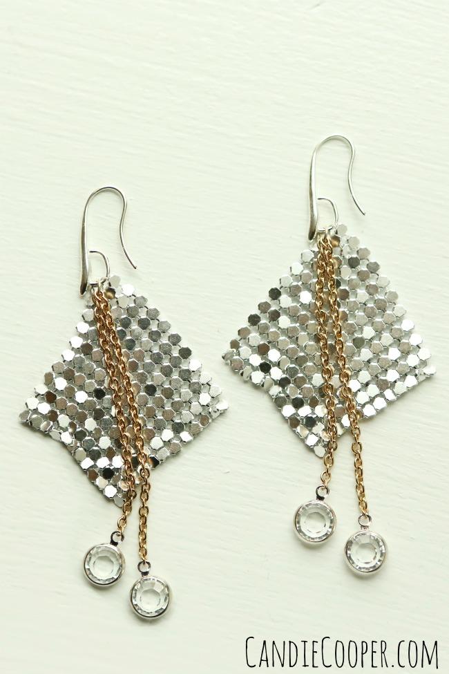 Aluminum Fabric Earrings
