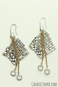 Aluminum Fabric Earrings - Candie Cooper
