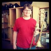 Liam gets a new trombone!