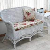 Small White Loom Style Conservatory Sofa