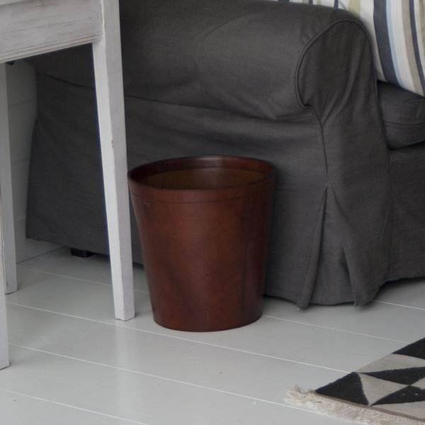 tan leather sofa how much does repair cost wastepaper bins leather rubbish bins basket ...