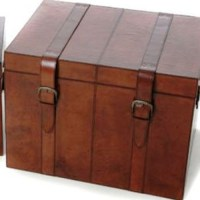 Leather Storage Trunk Large|Leather Chest Large|Trunk ...