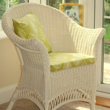 Small Cane Conservatory Wicker Furniture - Candle