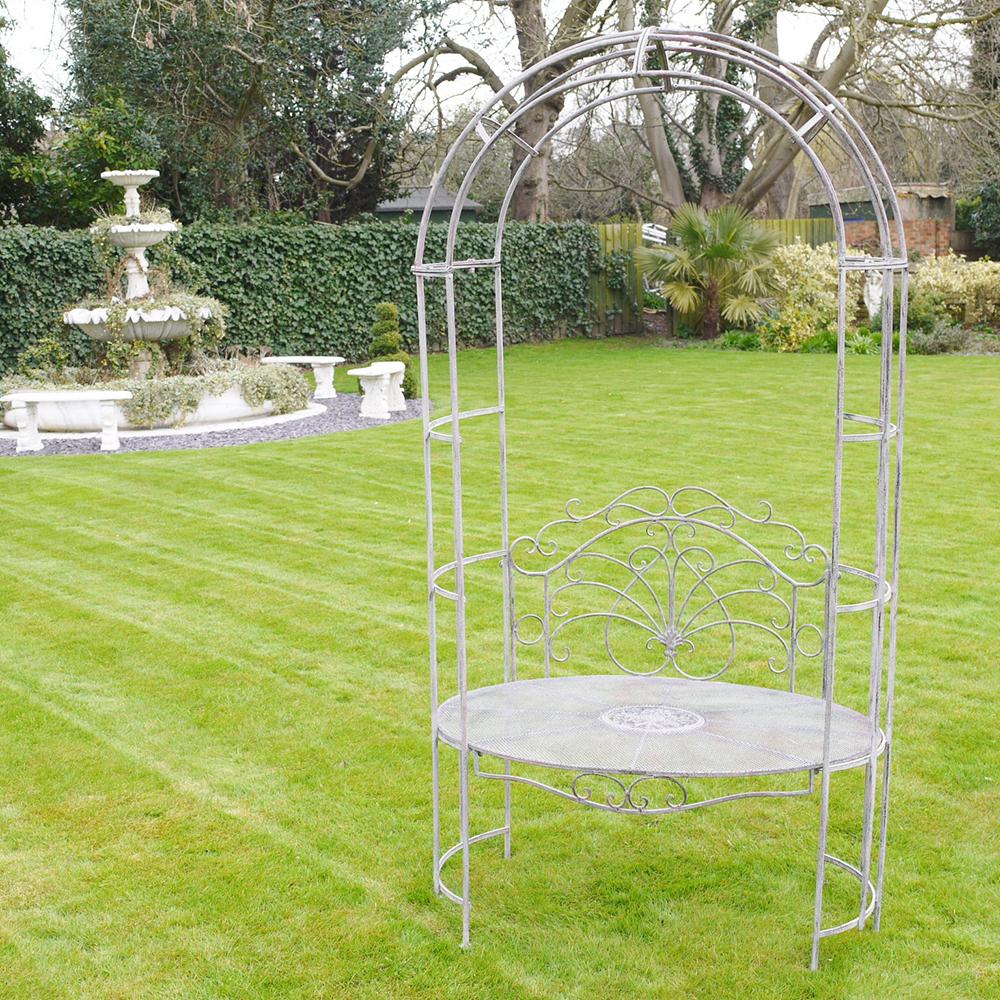 Wedding Garden Arch Seat Arbour Garden Bench Seat Candle