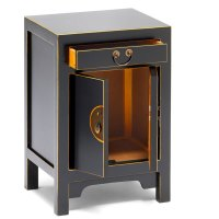 Black Oriental Style Storage Cabinet|Bedside Table ...
