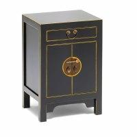 Black Oriental Style Storage Cabinet