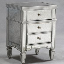 Small Mirrored Bedroom Furniture Glass Bedside Table