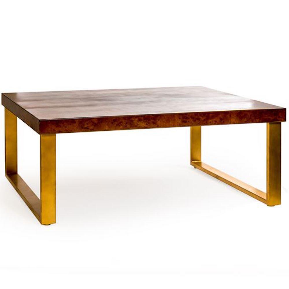 calendula dark wood coffee table