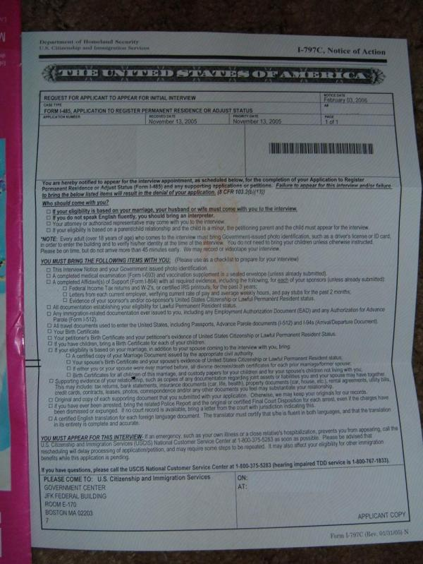 Uscis Biometrics Appointment Letter - Year of Clean Water