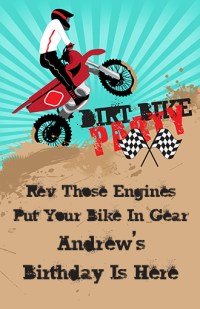 Dirt Bike Birthday Party wall art | Birthday Party Posters
