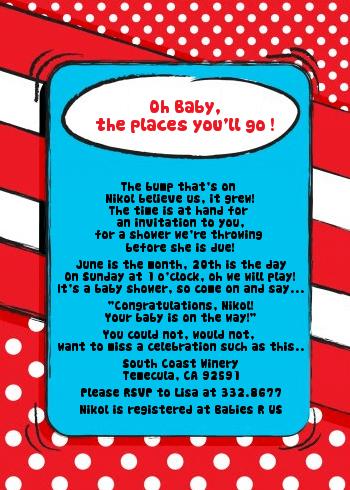 Dr Seuss Inspired Baby Shower