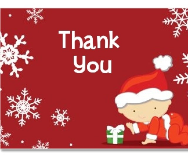 Christmas Baby Snowflakes Baby Shower Thank You Cards