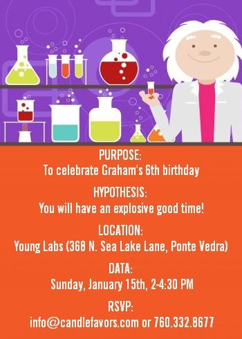 birthday party ideas scientistbirthday party invitations