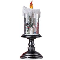 Lighted Christmas Snowman Candle Decoration, Snowman ...