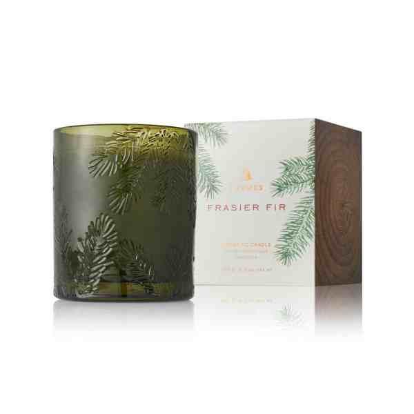Thymes Frasier Fir Candle Green Glass Candles Main