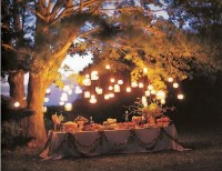 hanging lanterns are perfect at your wedding reception with our flameless battery operated tea light candles