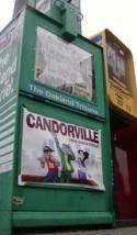 Oakland Tribune newsrack featuring Candorville