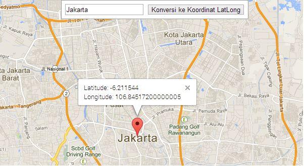 Konversi alamat ke LatLong