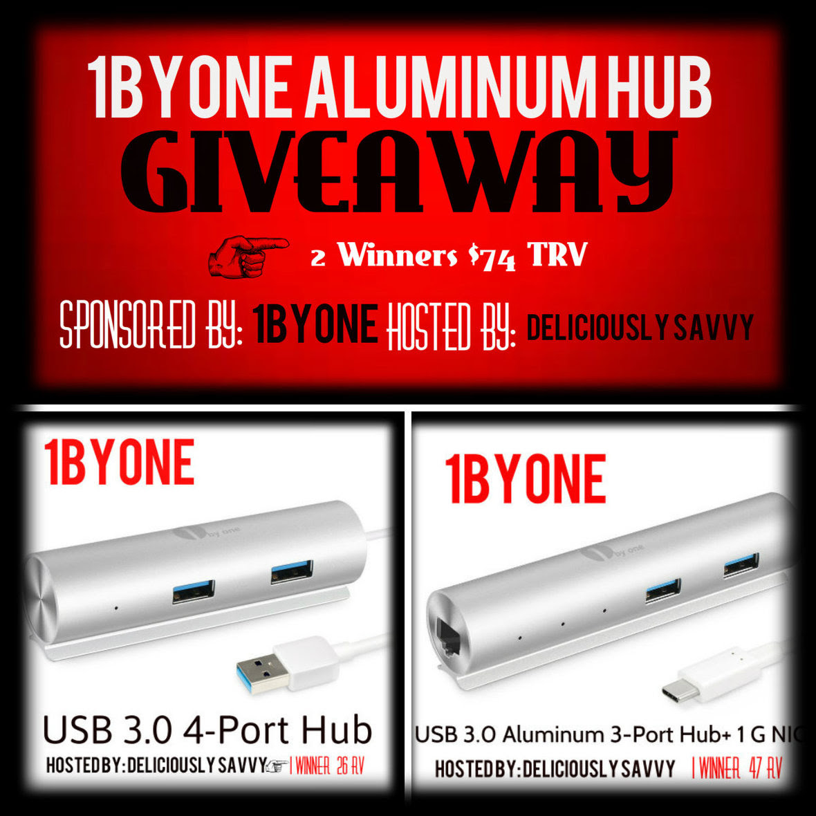 #1ByOne Aluminum Hub #Giveaway Ends 4/29