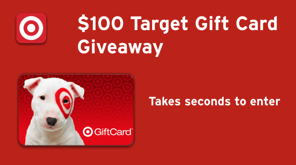 $100 Target Gift Card Giveaway Ends 12/20