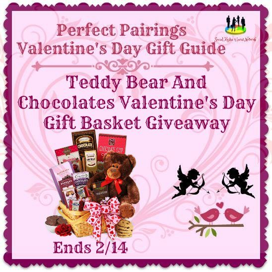 Teddy Bear and Chocolates Valentine's Day Gift Basket #Giveaway Ends 2/14 #SMGN