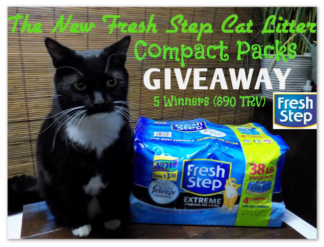 The New Fresh Step Cat Litter Compact Packs #Giveaway Ends 2/26 5 Winners
