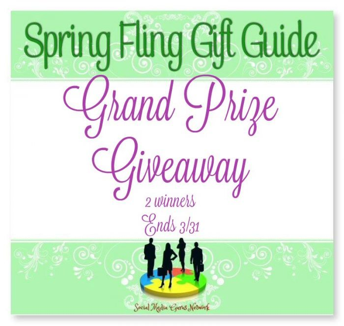 Spring Fling Gift Guide Grand Prize #Giveaway 2 Winners Ends 3/31 #SMGN