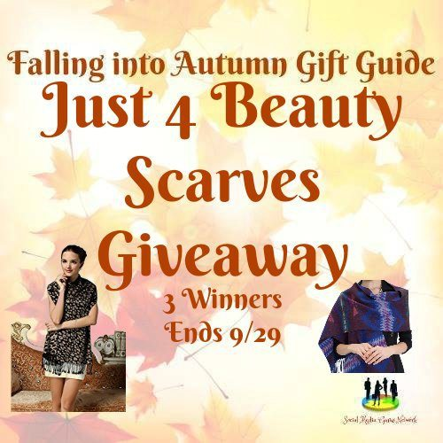 Just 4 Beauty Scarves #Giveaway Ends 9/29