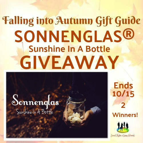 The Sonnenglas Sunshine in a Bottle #Giveaway Ends 10/15 2 Winners