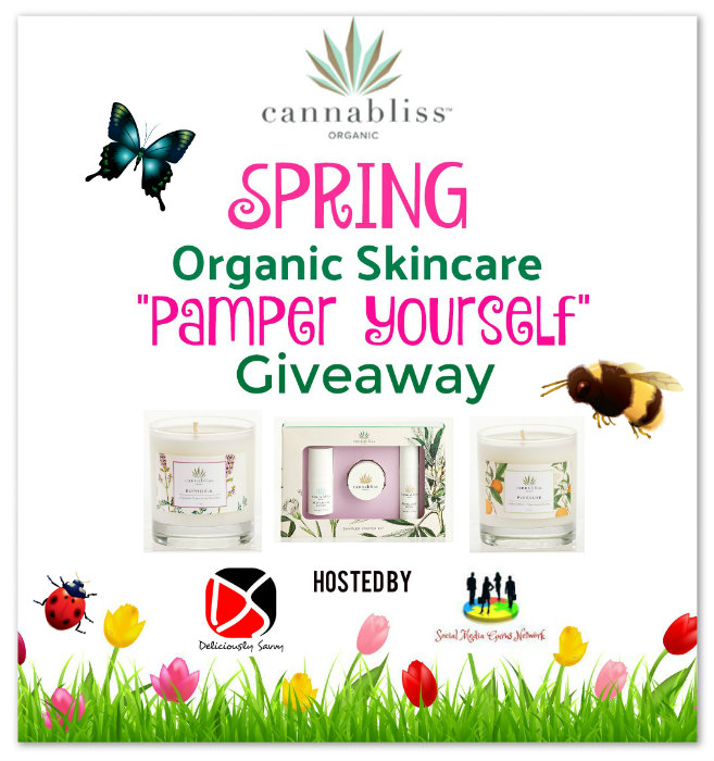 "Cannabliss Spring Organic Skincare ""Pamper Yourself"" #Giveaway Ends 3/25"