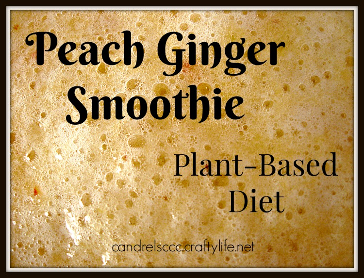 Drink a Peach Ginger Smoothie for a Plant-Based Diet Breakfast
