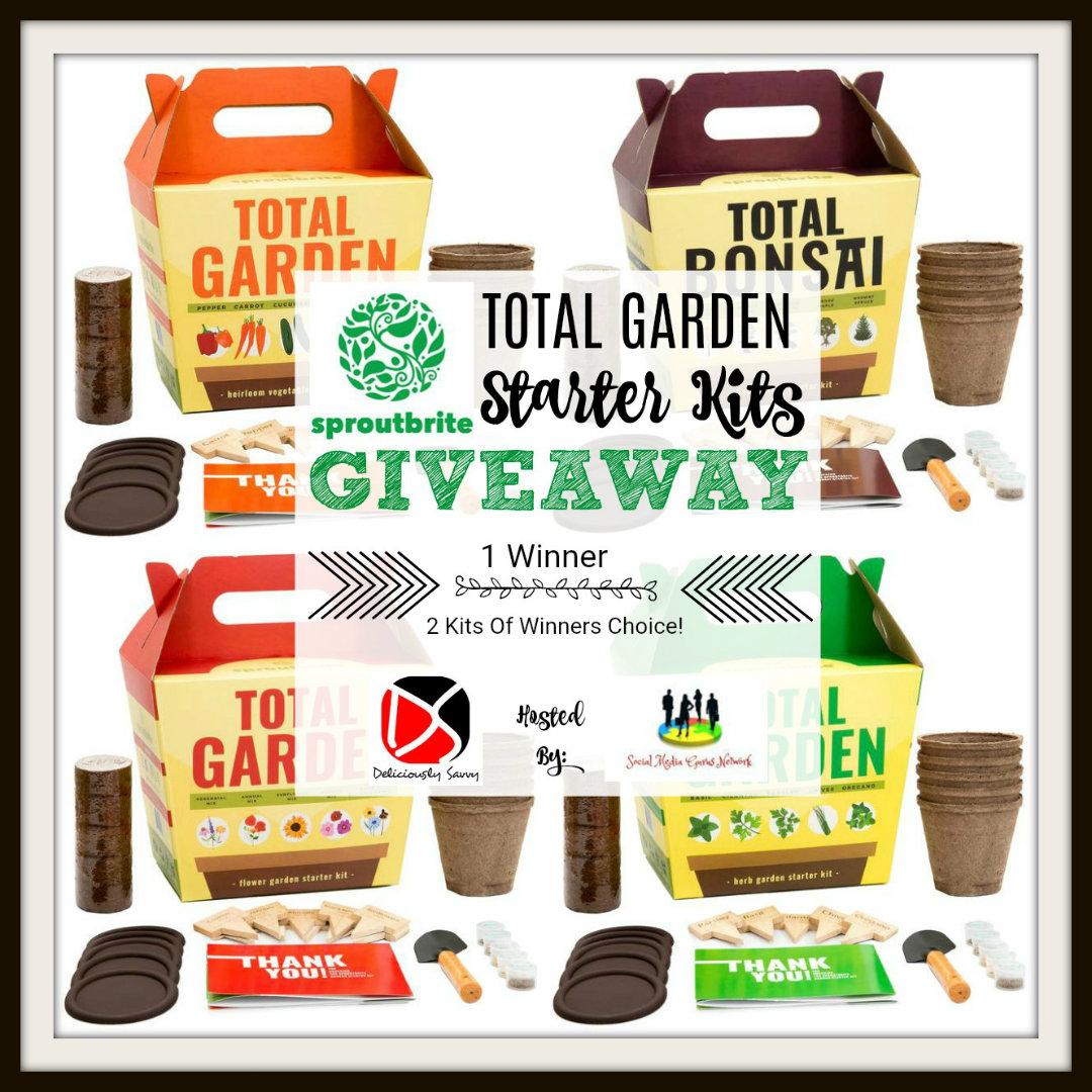 Sproutbrite Total Garden Starter Kits #Giveaway Ends 8/17 @sproutbrite @SMGurusNetwork