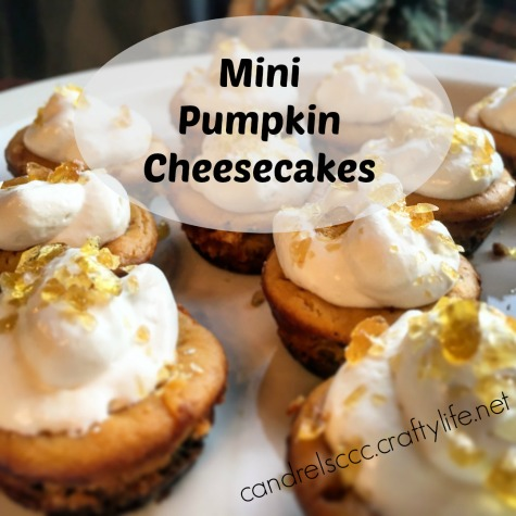Mini Pumpkin Cheesecakes With Salted Caramel Crunch Topping