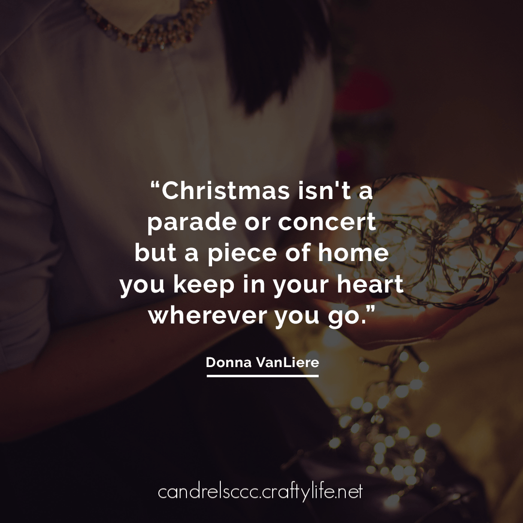 Christmas isn't a parade or concert…