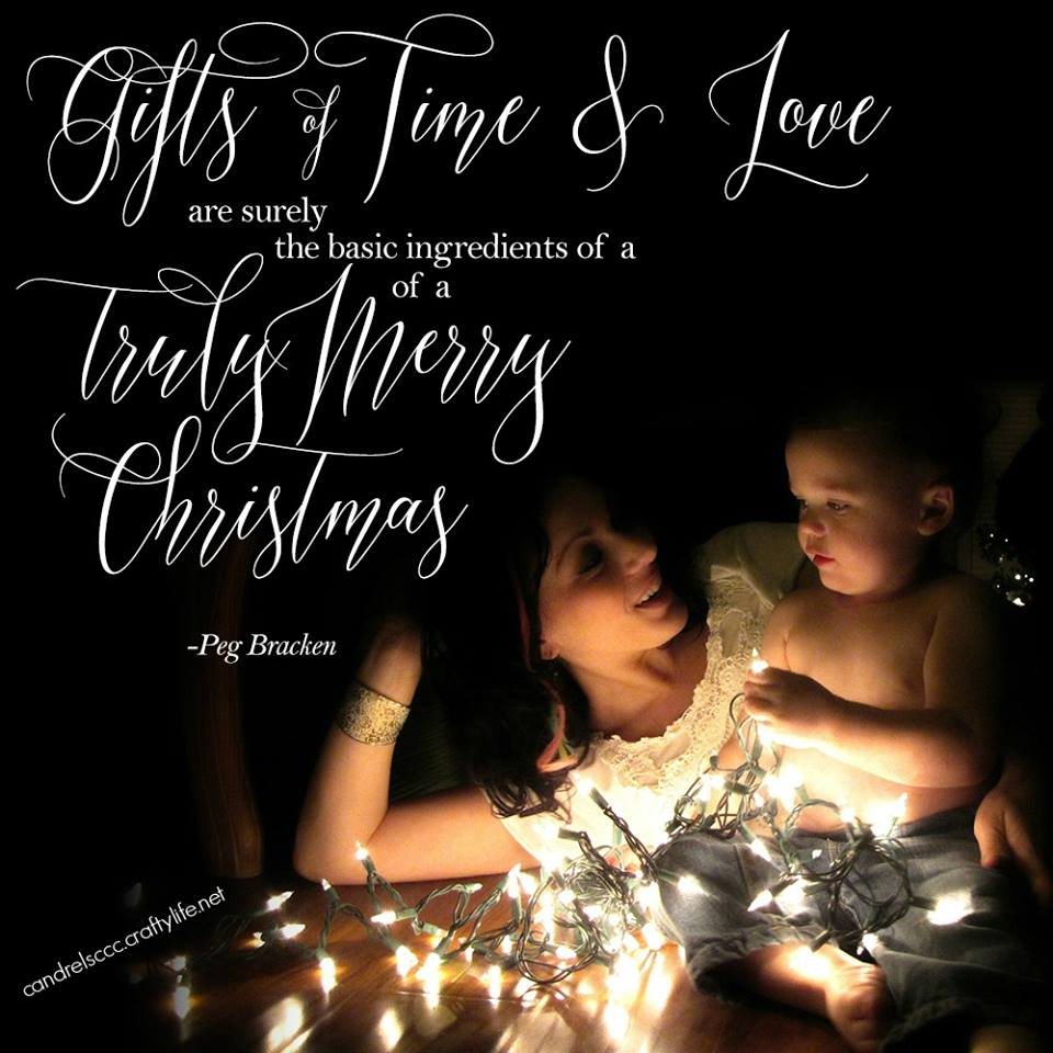 Gifts of time and love…