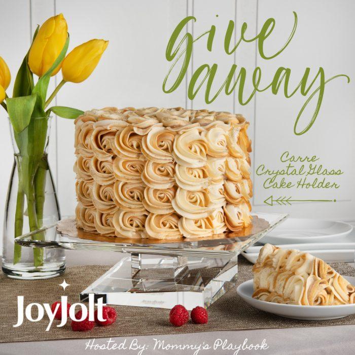 JoyJolt Carre Crystal Cake Holder #Giveaway