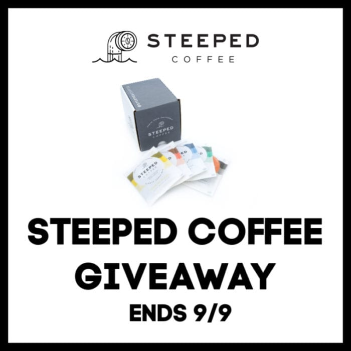 Enter the @steepedcoffee #Giveaway Ends 9/9 @s8r8l33