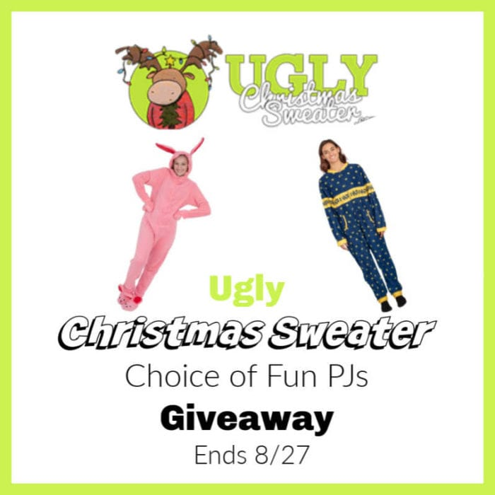 Ugly Christmas Sweater PJs #Giveaway Ends 8/27 @uglyXsweater @SMGurusNetwork @las930