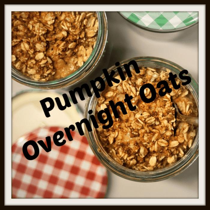 Pumpkin Overnight Oats 3 Ways