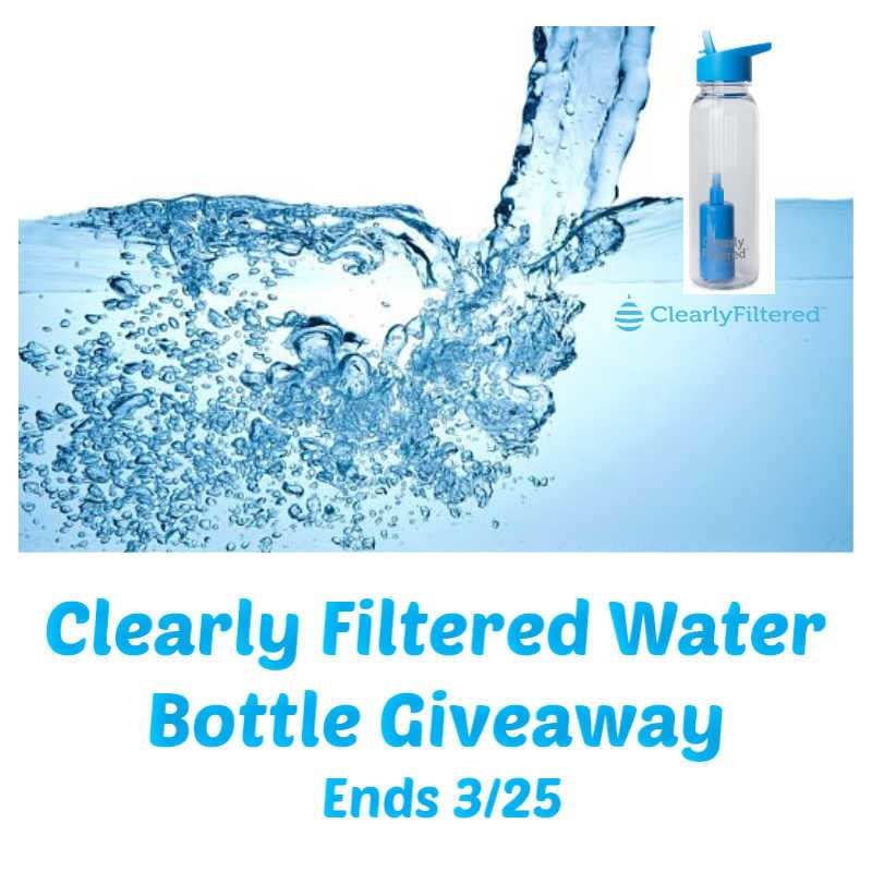 Enter the @ClearlyFiltered Water Bottle Giveaway Ends 3/25 @las930