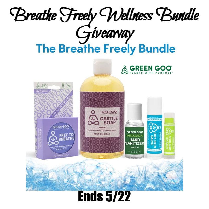 The Breathe Freely Wellness Bundle #Giveaway Ends 5/22 @greengoohelps @las930