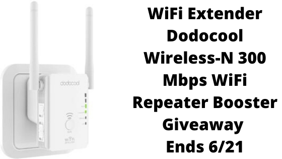 WiFi Extender Dodocool Wireless-N 300 Mbps WiFi Repeater Booster #Giveaway Ends 6/21 @giveawaygator2 @las930