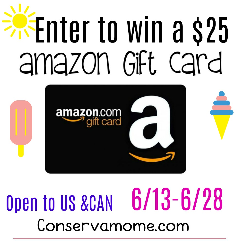 June $25 Amazon Gift Card #Giveaway with @Conservamome Ends 6/28