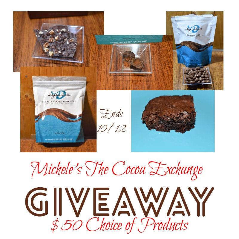Michele's The Cocoa Exchange $50 Choice #Giveaway Ends 10/12 @mikihope @las930