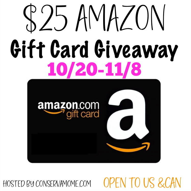 Fall $25 Amazon Gift Card #Giveaway Ends 11/8 @conservamome
