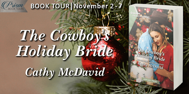 The Cowboy's Holiday Bride by Cathy McDavid #BookTour Grand Finale #CHBPrism with #Giveaway