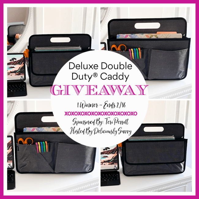 Deluxe Double Duty Caddy #Giveaway @TotesbyTeri @DeliciouslySavv