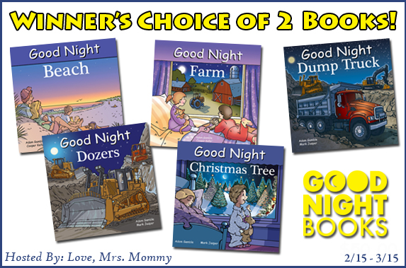 Winner's Choice of 2 Good Night Books #Giveaway Ends 3/15