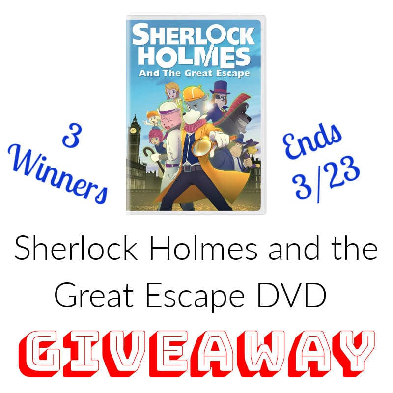 Sherlock Holmes and the Great Escape #Giveaway 3 Winners Ends 3/23 @ShoutFactory @s8r8l33
