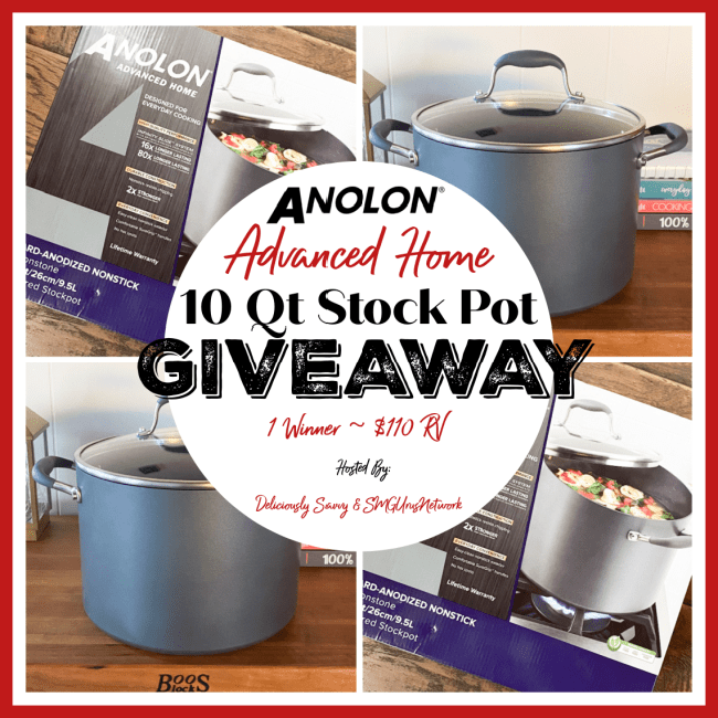 Enter the @Anolon Advanced Home 10 Quart Stockpot #Giveaway Ends 5/31 @DeliciouslySavv